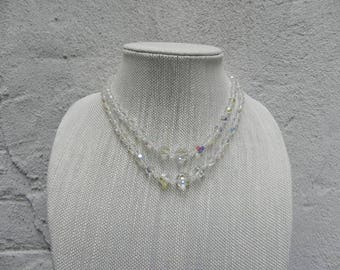 Vintage Double Strand Austrian Crystal Necklace