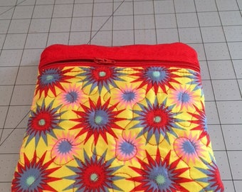 Hand made 7 X7  zippered cosmetic/phone/money/anything bag