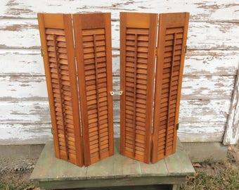 Wood shutters   Etsy