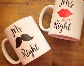 Mr. Right - Mrs Always Right Set.