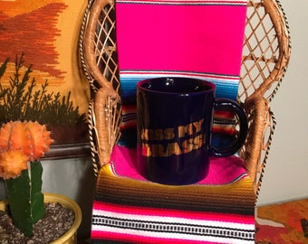 "Vintage 1980s ""Kiss My Brass"" Coffee Mug"
