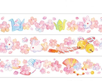 Sakura and Rabbit Washi Tape -- Masking Washi Tape -Deco tape--23mm x10M