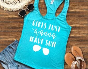 Bachelorette Party Shirts, Beach Bachelorette, Bachelorette Party Shirts, Girls just wanna have sun, Bachelorette Shirts