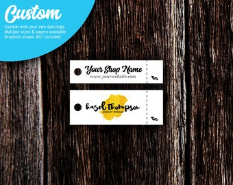 Custom Tear-Off Price Tags | Jewelry Tags | Price Tags | Clothing Tags | Hang Tags | Long Rectangle | SH233