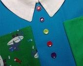 N. 3 Aprons Kindergarten School BALOCCO (Jersey, Vintage) 100% Cotton
