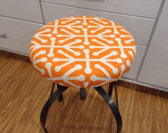 Round barstool cover with cushioned foam Elasticized  12  - 20  stool cover Orange & Stool cover | Etsy islam-shia.org