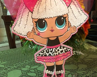 Lol surprise inspired center pieces-girls birthday-lol-popular theme