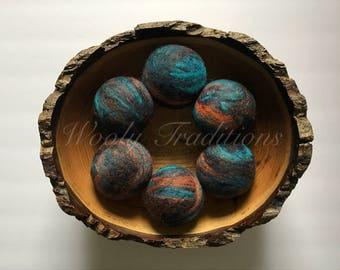 6 Wool Dryer Balls - Ready to ship