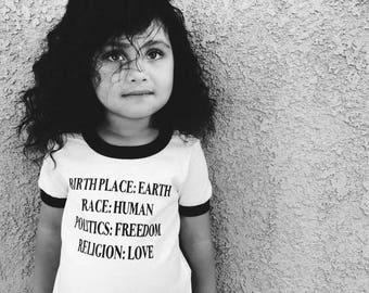 Toddler Peace Shirt