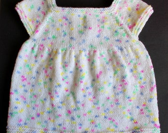 Starting Out Baby Dress Knitting Pattern PDF