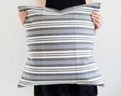 Chambray Pillow - Denim Pillow - Winter Decor - Blue Pillow - Hygge - Blue Stripe
