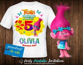 Trolls birthday shirt, Trolls birthday shirt iron on,Trolls birthday shirt printable,Trolls birthday shirt family,Trolls birthday shirt girl