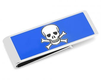 Shiver Me Timbers Skull and Crossbones Money Clip Fun Money Clip