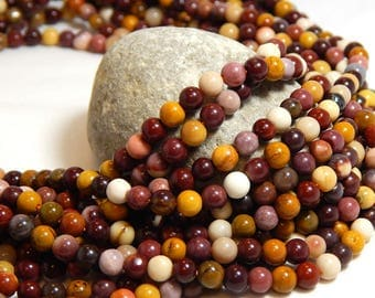 4mm Mookaite, Small Gemstone Beads, 4mm Beads, Mookaite, Small Round Gemstones, 4mm Gemstones, Earthy Beads, Colorful Beads,  B-36A