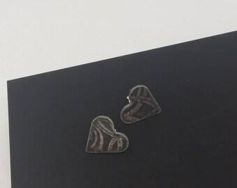 Oxidised Textured Earrings