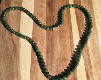 Jadeite beads Necklace 21 inches Certified Imperial translucent Natural A jadeite