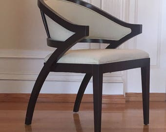 Set of four (4) Gunlocke sculpted back lounge chairs