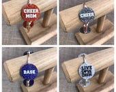 Customizable Cheerleading Glitter Bangle Bracelet Cheer Jewelry