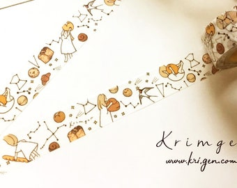 SET of THREE Masking Tapes -Stards & Breads- Designed by Krimgen