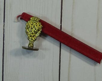 Seal and Sealing Wax Stick for Embellishing Art Orijects