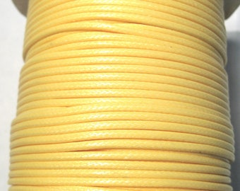 15ft Yellow Korea Wax Polyester Cord Bracelet Necklace Cord 2mm( No.125)