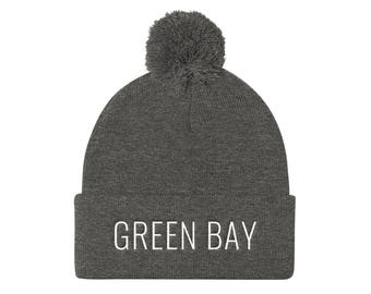 Green Bay Beanie // Winter Hat // Green Bay Hat // Green Bay Fan // Green Bay Gift // Unisex Hat // Green and Gold // The Busy Bee