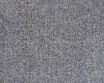 Fabric - Robert Kaufman - Essex Yarn dyed linen/cotton - Black - medium weight woven.
