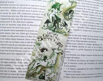 Bookmark Unicorn and fairy troll Green