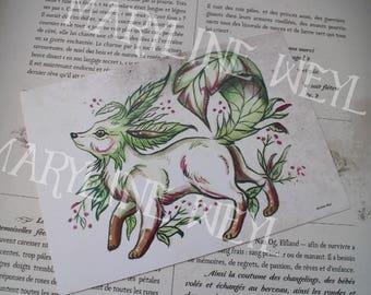 Map postcard magical Fox sheet