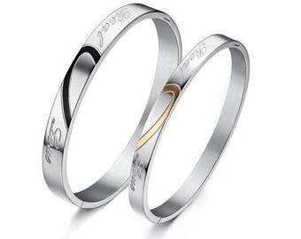 Genuinely Loving You - Couples Bracelets / His and Hers Bracelets / Engraved Bracelets for Her / Matching Jewelry for Couples