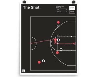 Duke Basketball Poster: The Shot (1992)