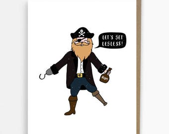 funny cards, birthday card, pirate, congratulations