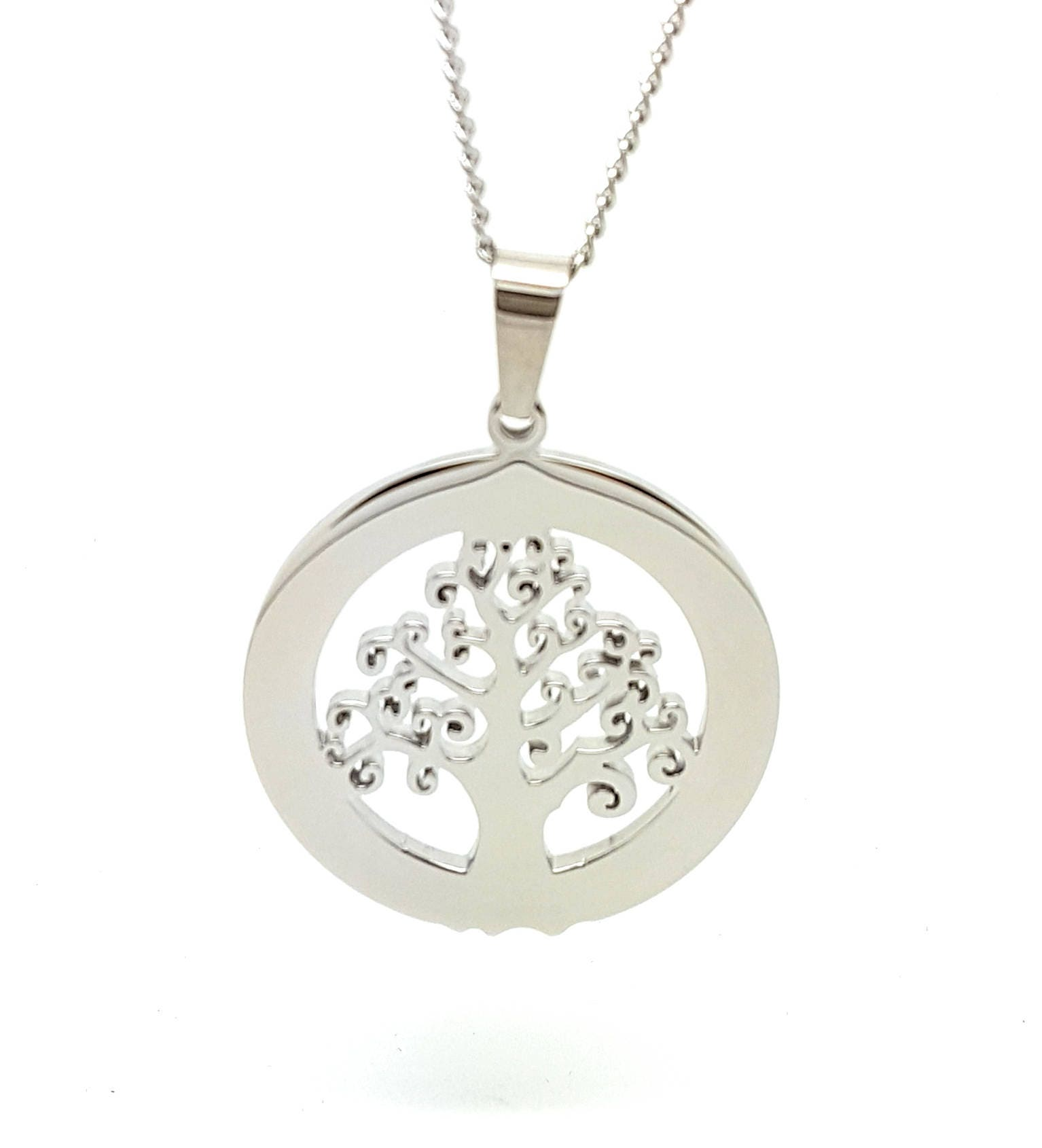 Coorabell crafts silver circle tree of life pendant and necklace coorabell crafts silver circle tree of life pendant and necklace engraveable gift ideas mozeypictures Gallery