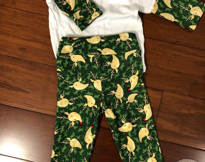 24 month Christmas time pants and t-shirt