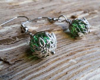 Hoppy Green Earrings