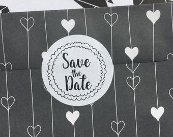 Save The Date Sticker for your Wedding Mail, Wedding Invite Sticker, Envelope Seals, Invite Sticker