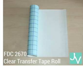 "12"" Wide Roll of Blue Grid Transfer Tape / Transfer Paper / Application Tape FDC 2670"