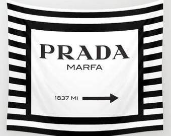 Prada Marfa, Fashion Wall Decor, Wall Tapestry, Fashion Decor, Wall Hanging, Dorm Tapestry, Dorm Room, Teen Girl Room Decor, Gifts for Her