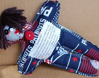 New England Patriots  Adult Stress Toy or Gag Gift Dammit Doll or Darn It Doll