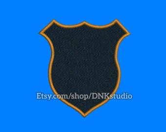 Police Badge Shield Embroidery Design - 6 Sizes - INSTANT DOWNLOAD