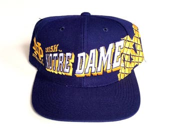 Vintage Notre Dame Fighting Irish sports specialties snapback wool deadstock brand new Nwot 90s