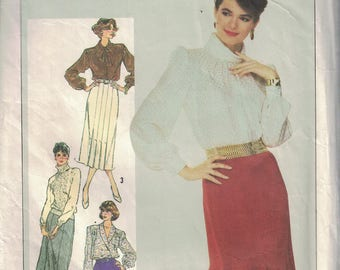 Vintage Sewing Pattern for a Ladies Slim Fitted Gored Skirts by Simplicity #7604 (A47)