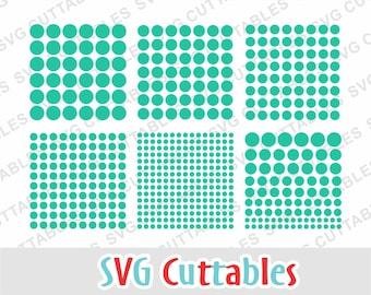 Polka Dots SVG, circles svg, polka dots dxf, dots cut file, circles svg, dxf, eps, dot, circle, Silhouette, Cricut cut file, digital file