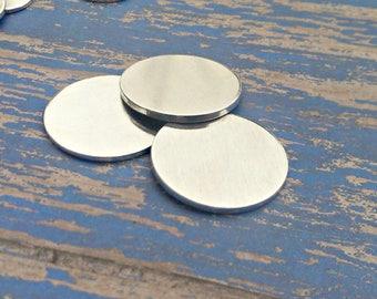 Aluminum 1 1/4 inch Round Stamping Blanks - 16G Aluminum