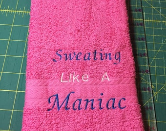 Customizable Machine Embroidered Sweat or Gym Towels