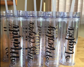 Custom Tumblers - Great for Bachelorette Parties, Party Favors