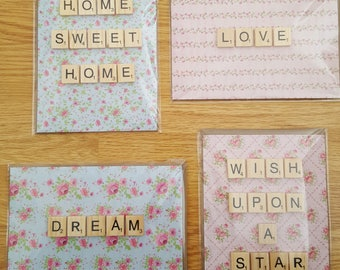 Scrabble Greeting Cards (set of 4)