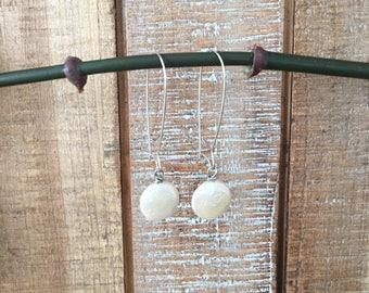 Coin Pearl Earrings  Coin Pearl Drop Earrings  Pearl Dangle Earrings  Pearl Earrings  Pearls  Sterling Silver Earrings