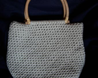 Large light grey cotton tote bag