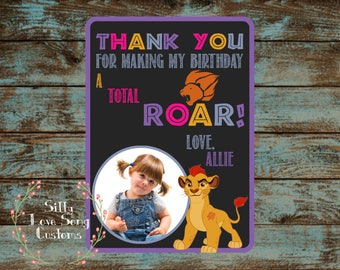 Lion Guard Themed Printable Birthday Thank You Cards! 4x6 or 5x7 Perfect for Any Birthday!